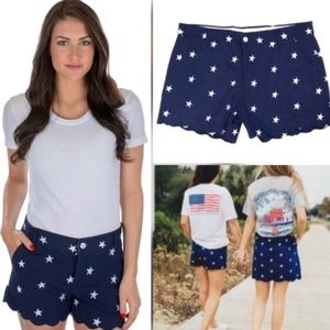 NWT Lauren James July 4th Scalloped Stars Shorts